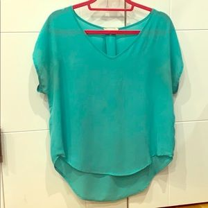 Flowy turquoise summer top
